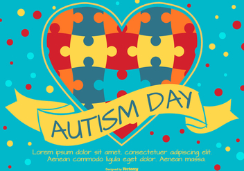 Colorful Autisim Day Illustration - Free vector #434193