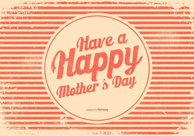 Retro Style Mother's Day Illustration - Free vector #434203