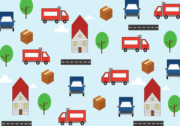 Moving Van Background Vector - vector gratuit #434223