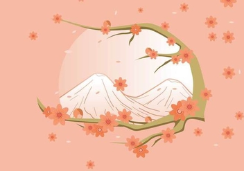 Free Elegant Spring Background With Peach Flower Vector - Free vector #434283