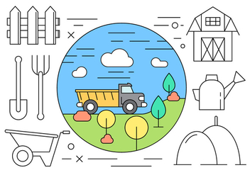 Minimal Styled Farming Icons in Vector - Free vector #434593