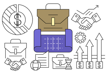 Free Linear Business Plan Icons - Kostenloses vector #434653