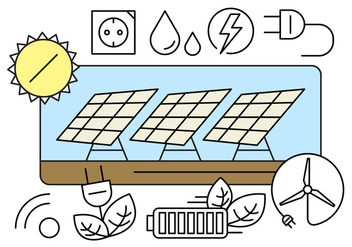 Free Green Energy Icons - vector #434663 gratis