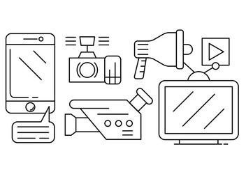 Free Media Vector Icons - vector gratuit #434693