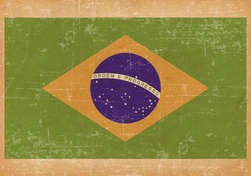 Grunge Flag of Brazil - Free vector #434733