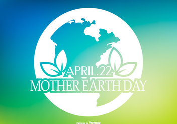 Beautiful Earth Day Illustration - Kostenloses vector #434743