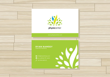 Physiotherapist Name Card Free Vector - Free vector #434813
