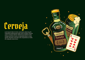 Cerveja Green Bottle Free Vector - vector #434823 gratis