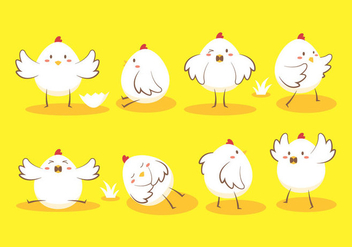 Easter Egg Chick Vector - vector #434843 gratis