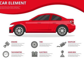Free Car Element Infographics Vector - Kostenloses vector #434873