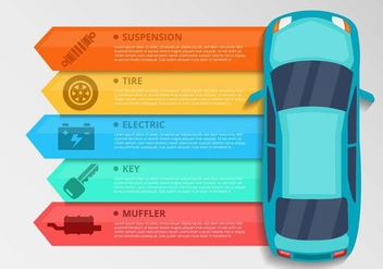 Free Car Element Infographics Vector - Kostenloses vector #434883