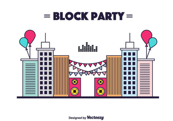 Block Party Vector Background - Kostenloses vector #434893