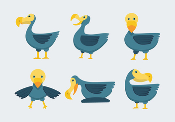 Dodo Bird Vector Illustration - бесплатный vector #434983