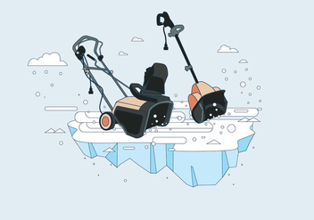 Snow Blower Vector - Free vector #435023