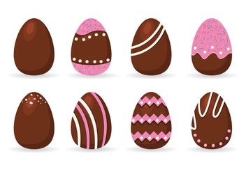 Dark Chocolate Easter Eggs Vector - бесплатный vector #435033