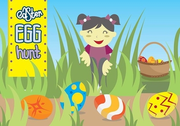 Easter Egg Hunt Kids Playground - Free vector #435083