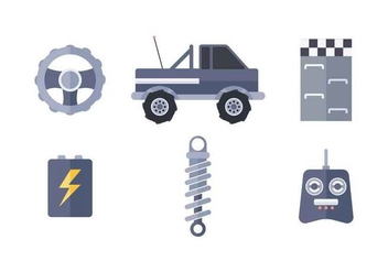 Free Outstanding RC Car Vectors - Free vector #435103