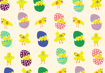 Easter Chick Pattern - vector gratuit #435123