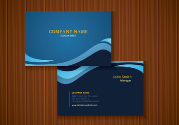 Free Stylish Blue Business Card Design - vector gratuit #435193