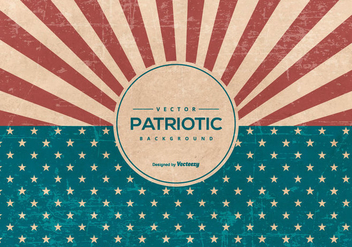 Retro American Grunge Style Patriotic Background - Free vector #435203
