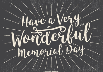 Typographic Happy Memorial Day Illustration - Free vector #435213