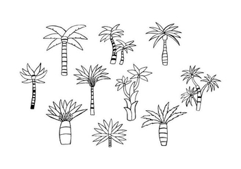 Free Palm Hand Drawn Vector - бесплатный vector #435263