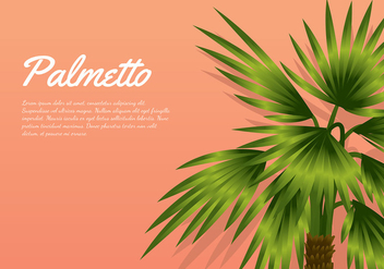 Palmetto Peach Background Free Vector - vector gratuit #435273