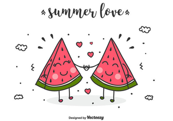 Summer Love Vector Background - Free vector #435323