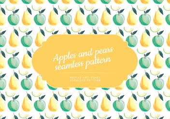 Vector Hand Drawn Apples and Pears Pattern - vector #435333 gratis