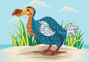 Cute Dodo Bird Illustration - vector #435373 gratis
