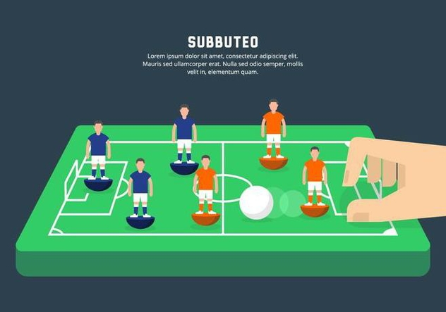 Subbuteo Illustration - vector gratuit #435403