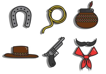 Gaucho vector icon set - бесплатный vector #435433