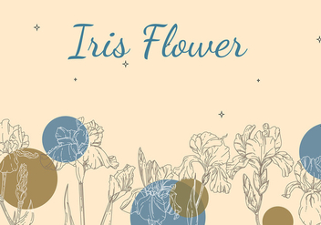 Iris Flower Background Outline Free Vector - Free vector #435463