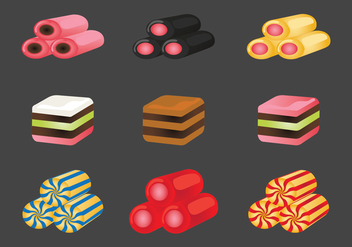 Licorice Candies Vector Icons - Free vector #435493