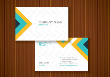 Free Colorful Stylish Business Card Template Design - бесплатный vector #435513