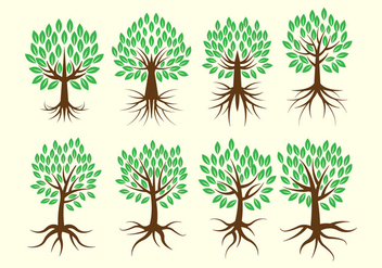 Free Tree With Roots Vector Collection - Free vector #435523