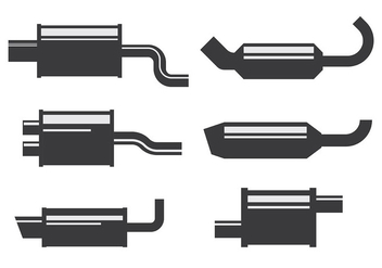 Free Muffler Icons Vector - Free vector #435533