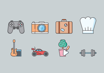 Hobby Icon Set - vector #435553 gratis