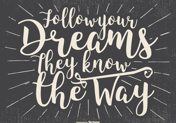 Inspirational Typographic Illustration - vector #435563 gratis