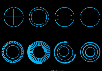 Blue Hud Element Vector - Free vector #435733