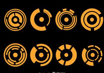 Orange Hud Visual Element Vectors - Kostenloses vector #435743