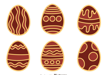 Hand Drawn Nice Chocolate Easter Eggs Vector - Free vector #435763