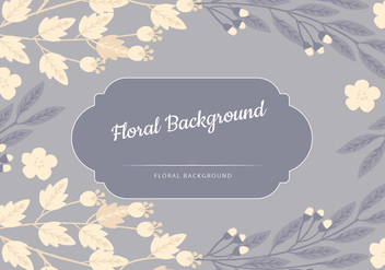 Vector Blue Floral Background - vector gratuit #435783