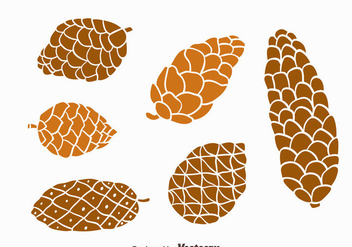 Nice Pine Cones Collection Vector - Free vector #435893