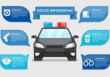 Free Police Infographic Vector - vector gratuit #435943