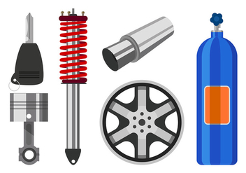Car Equipment Free Vector - Kostenloses vector #435963