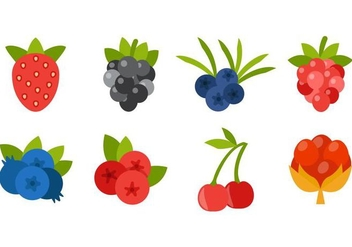 Free Berries Icons Vector - Free vector #435983