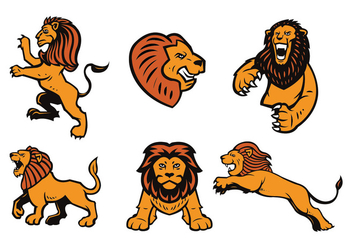 Free Lions Logo Vector Set - Free vector #436003