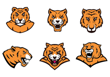 Free Tiger Logo Vector Set - Kostenloses vector #436013