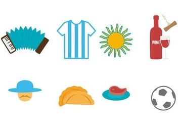Free Argentina Icons Vector - Free vector #436023